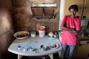 Marble Moahi, who's HIV, in Botswana consumes 900 kcal/day