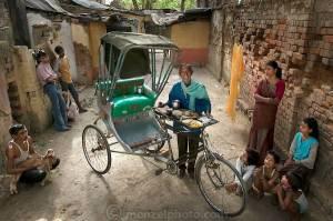 Munna Kailash, a rickshaw driver in India, consumes 2400 kcal/day.