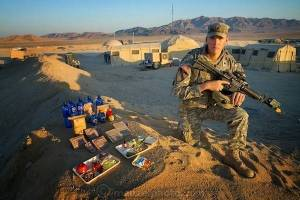 Soldier Curtis Newcomer, in Fort Irwin, California, consumes 4000 kcal/day.
